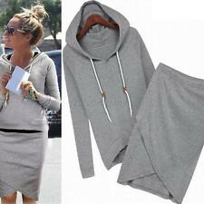 New Womens Casual Hoodies Suit Sport Sweatshirt Pullover Tracksuits Sportswear