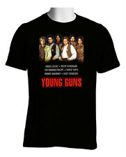HOT NEW RARE YOUNG GUNS COWBOYS MOVIE 80 CHARLIE SEEN STO 5XL BLACK T-SHIRT