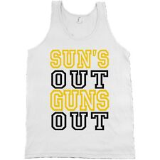 Suns Out Guns Out AMERICAN APPAREL Tank Top Lifting Gym Shirt MADE IN USA NEW