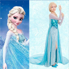 Hot Princess Frozen Costume Cosplay Adult Lady Tulle Elsa Fancy Dress S-XXXL
