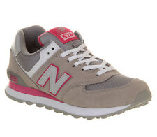 New Balance Wl574 GREY PINK Trainers Shoes