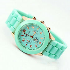 Fashion Hot&Cheap Geneva Silicone Strap Quartz Unisex Wrist Watches WristWatch