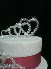 Crystal Hearts Wedding Cake Topper Set 4, 8, 12 Or 16