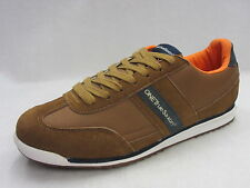 ONE TRUE SAXON 'Volare' Men's Brown/Navy Lace Up Trainers
