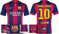 *14 / 15 - NIKE ; BARCELONA HOME SHIRT SS / RONALDINHO 10 = KIDS & JUNIOR SIZE*