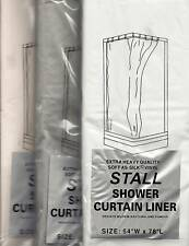 STALL 54X78 VINYL SHOWER CURTAIN LINER WHITE CLEAR IVORY