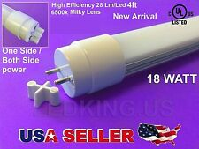 "G13 T8 T12 4FT 48"" 6500K 18W UL LISTED DLC Fluorescent Replacement LED Tube Lamp"