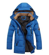 2014 Kids Boys Fur collar Thicken long section Down Jacket 6 Color size 6-10Y