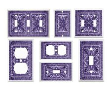 Light Switch outlet Cover Wall Plates - Purple Italian Tile II Image