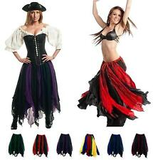 RENAISSANCE COSTUME MEDIEVAL DRESS-UP BELLYDANCE TRIBAL PIRATE WENCH PETAL SKIRT