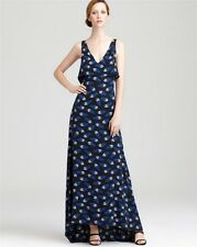 SZ 10,8,6,2 DIANE VON FURSTENBERG NIGHT CLOUDS THERESE SILK CREPE MAXI DRESS NWT
