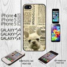 French Bulldog Old Newspape iPhone Cover For iPhone 4/4S/5/5S/5C+Galaxy S3/S4/S5