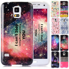 Phone Soft Back Skin Case Cover Colorful Pattern for Samsung Galaxy S5 i9600