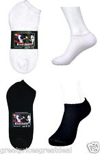 4~12 Pairs Mens Knocker Sport Quarter No Show Socks White Black Size: 9-11 10-13
