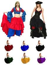 RENAISSANCE DRESS-UP BELLY DANCE COSTUME PIRATE WENCH SALOON GIRL TRIBAL SKIRT