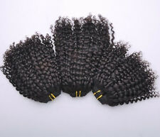 INDIAN VIRGIN HUMAN HAIR WEFTS EXTENSIONS HAIR WEAVES KINKY CURLY 3PCS/300G/LOT