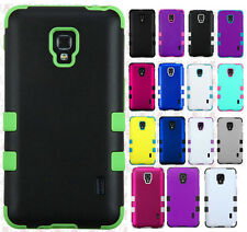 LG Optimus F6 D500 MS500 IMPACT TUFF HYBRID Case Skin Cover + Screen Protector