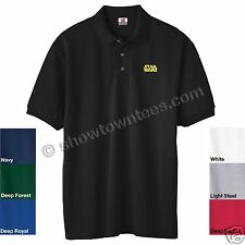 STAR WARS Logo Embroidered Polo in 7 Colors in S,M,L,XL,2XL,3XL,4XL,5XL,6XL ISC