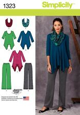 Simplicity pattern - 1323 Misses' Knit Tunics, Pants and Infinity Scarf