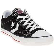 New Mens Converse Black Star Player Ev Ox Canvas Trainers Lace Up