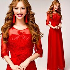 New Formal Evening Prom Party Dress Bridesmaid Dresses Ball Gown - Red LF188