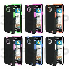 NEW STYLISH HYBRID CASE FITS SAMSUNG GALAXY S2 I9100 FREE SCREEN PROTECTOR