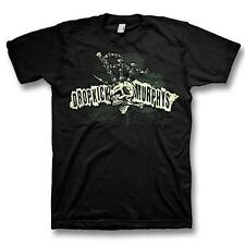 DROPKICK MURPHYS Bagpipe Skeleton Mohawk Adult T-Shirt Official License New