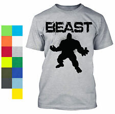 Beast Mode Shirt Workout Gear Gym BodyBuilding Cross fit MMA Weight Lifting Hulk