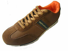 MEN'S ONE TRUE SAXON BROWN/NAVY LACE UP TRAINERS STYLE: VOLARE