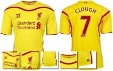 *14 / 15 - WARRIOR ; LIVERPOOL AWAY SHIRT SS / CLOUGH 7 = KIDS SIZE*