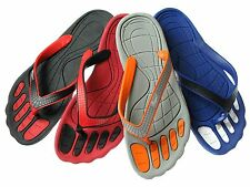 New Men's All Rubber Flip Flop Thongs Sandals Indoor Outdoor Sz 7-12 Four Colors