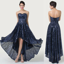 Pageant Ball Sequins High-low Celebrity Gown Cocktail Banquet Evening Prom Dress