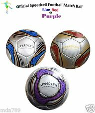 Official Speedcell Football Soccer Ball (Purple) UEFA FIFA World Cup 2014