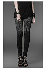 Punk Sexy Women's tight leggings pants with Branches vampire moon dark  EMO