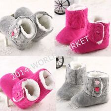 0-18months infant baby girl newborn infant bootie crib winter shoes warm soft US