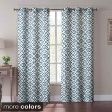 Tanjiers Ikat 84 inch Grommet Curtain Panel Pair