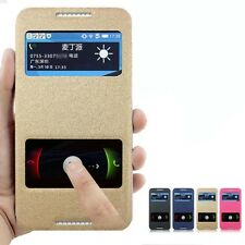For HTC Desire 816 Leather Flip Cover Case Bag Casing Pouch Window Display