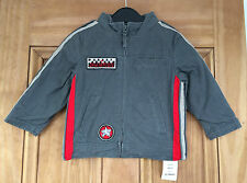 EXCHAINSTORE NEW BOYS GREY RED FLEECE LINED COAT JACKET 3 MONTHS-3 YEARS BNWT