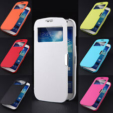 For Samsung Galaxy S5 I9600 Magnetic Flip Hard Cover PU Leather Case Full Pouch