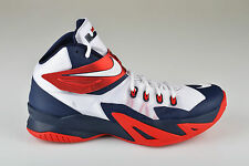 Nike Zoom Soldier VIII 8 USA Home basketball shoe white red obsidian 653641-114