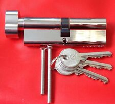 Thumb turn Euro Cylinders all sizes. Any sizes can be keyed alike and extra keys