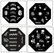 Konad Styled OCTAGONAL Stainless Steel  Image Plate Nail Art Stamping- QA Series