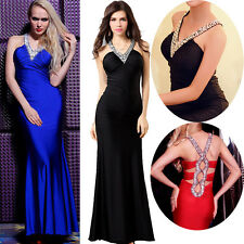 New In Long Slim Fit Cocktail Wedding Masquerade Bridesmaid Evening Prom Dresses
