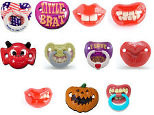Billy Bob Pacifiers Dummy Baby Funny Teether Pacy Orthodontic Nipples Pacy