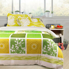 100% Cotton 3Pcs Queen King Size Bedding Quilt Duvet Cover Set New Pillowcase