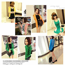 2014 Women Lace Candy Colour Crochet Knit Blouse Top Coat Cardigan Shirt Sweater