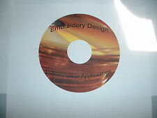 Embroidery Design Sizers/Editors/Converters on CD - 14 Different Programs