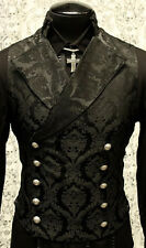 SHRINE GOTHIC VAMPIRE CAVALIER VEST JACKET VICTORIAN ROCK BROCADE GOTH STEAMPUNK