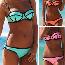 Women's Bandage beach Bikini Set Push-up Padded Bra Swimsuit Suit Swimwear D1