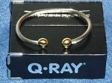 NEW Q-RAY IONIZED COMBO DELUXE BRACELET, Sml/Med/Lrg, Qray Golf Health Wellness